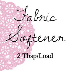 Frugal Home Series Part 2: Homemade Fabric Softener I'm definitely a liquid fabric softener kind of gal. In college I took the best tex...
