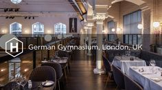 This imposing building located between London's King's Cross and St Pancras railway stations was England's first purpose-built gym and hosted the indoor even. London Olympic Games, Plank, Olympics, Purpose, England, Indoor, Restaurant, Events, Gym