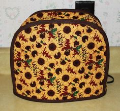 Toaster Cover - Appliance Cover - Small Toaster Cover - Kitchen Accessory Cover - Sunflowers -Cozy via Etsy