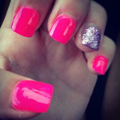 Barbie nails! I do this combo all the time! :)