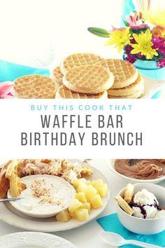 Waffle Bar Brunch Birthday Party Tutorial + 3 Easy Waffle Recipes #wafflebar #ad #EggoWaffleBar #birthdayparty #brunch