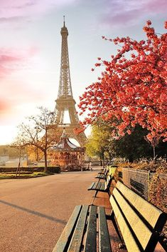 Visit Paris In Autumn - The Tour Eiffel And Fall Colors While Walking Next To The Seine River 20 Amazing Trips In Europe In Fall Torre Eiffel Paris, Paris Eiffel Tower, Tour Eiffel, Best Vacation Destinations, Dream Vacations, Beautiful Places To Travel, Cool Places To Visit, Paris Travel, France Travel