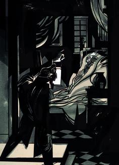 the man sneaking up on the old man(important event) The Tell Tale Heart, Heart Illustration, Sneaks Up, Goth Art, Arte Horror, Edgar Allan Poe, Heart Art, Old Men, Raven
