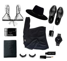 """""""Black Days"""" by maikeirving on Polyvore featuring Zimmermann, Royce Leather, Sandro, Miu Miu, The Horse, Essie and Bobbi Brown Cosmetics"""