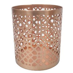 HOLLYWOOD ROSE Copper Etched Votive Holder - Small