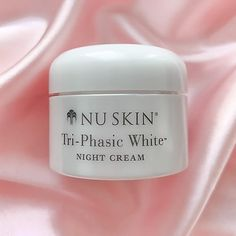 Tri-Phasic White® Night Cream works to reduce the appearance of skin discoloration to reveal a more brilliant skin tone as you sleep! #radiancenightcream #radiancecream #glowingcream #skincaretips #products #creamforglowingskin #nightcream #nuskin #nuskinrecomendedseller #nuskinnightcream #glowingskin #glowingskinroutine #glowingskintips #triphasicline #discoloration #unevenskintone #unevenskin #darkspots #triphasicnightcream #nuskinseller #silk #pinksilk #triphasic #triphasicproducts…