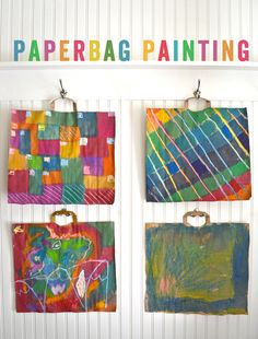 Paperbag Portfolio - decorate or don't decorate, but it's a simple way to hold their projects. Have the bags donated and use the teen volunteers to cut and staple. A good station could be a station where students may decorate their portfolios.