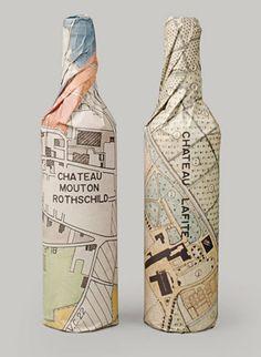 Wine wrapping idea....