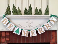 Be Merry Banner/ Christmas Decorations / by anyoccasionbanners