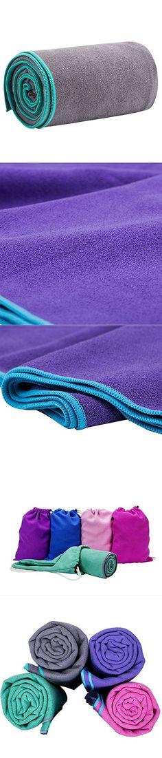 JKMEOO Microfiber Hot Yoga Towels, Sweat Absorbent Non-Slip Bikram Yoga Mat Towels for Hot Yoga, Pilates, Sports and Fitness (72x24 Inches) (Grey)