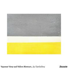 'Squeeze' Grey and Yellow Abstract Art Canvas Print