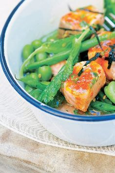 ELLE - Zalm met gestoomde groente