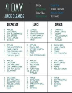 Four Day juice Cleanse ~gonna do it this on weekend. Let's see how it goes!
