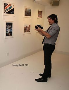 Norman Reedus of AMCs The Walking Dead hosts Canon PIXMA PRO City Senses Gallery at Venue 404 on September 26 2013 in New York City