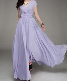 Women's Purple Color Chiffon Long Skirt  circumference Long Dress maxi skirt maxi Dress Party Wedding Prom Dress  s,m,L,XL,XXL