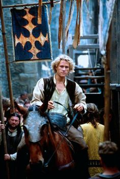 """""""For I have the pride, the privilege, nay, the pleasure of introducing to you to a knight, sired by knights. Sir Ulllrrrich von Lichtenstein"""" - Chaucer- A Knights Tale Great Films, Good Movies, Story Inspiration, Character Inspiration, Love Movie, Movie Tv, Movies Showing, Movies And Tv Shows, Heath Legder"""