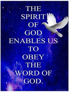 The word of God brings to you the spirit of God, Praise And Worship, Praise God, Bible Scriptures, Bible Quotes, True Quotes, Holy Ghost, Spiritual Quotes, Spiritual Growth, Faith In God