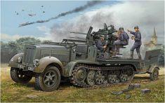 Sd.kfz. 7/1 (Early version) 2 cm Flakvierling 38 Selbstfahrlafette