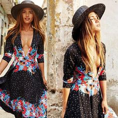 cf4c28abdd6 Plus Size Retro Style Female Ladies Summer Long Maxi BOHO Evening Party Dress  Beach Dresses Sundress
