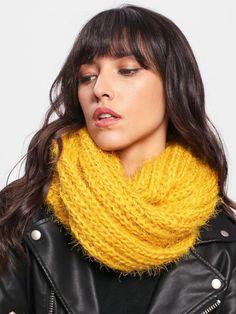 Knit Infinity Scarf -SheIn(Sheinside)