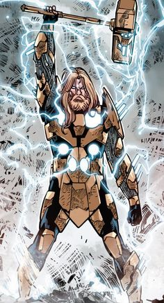 Thor Marvel Comic Universe, Marvel Comics Art, Marvel Vs, Marvel Heroes, Anime Comics, Comic Books Art, Comic Art, Comic Character, Character Design