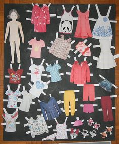 Paper doll - free download and tutorial Paper Dolls, Crafty, Toys, Montessori, Games, Softies, Activity Toys, Clearance Toys, Gaming