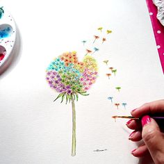 Check out this item in my Etsy shop https://www.etsy.com/uk/listing/532299259/dandelion-seed-painting-made-to-order