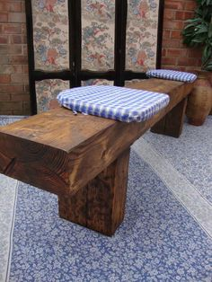 RAILWAY SLEEPER 5ft Rustic Reclaimed Old Oak Dining Plank Table Chair BENCH ♥