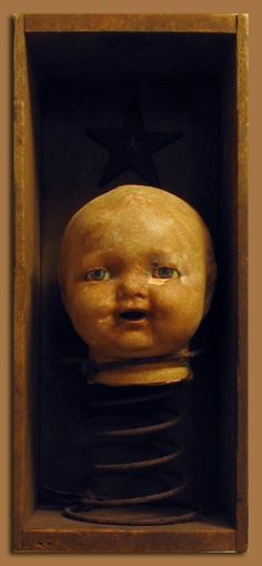 doll head on spring(I have all the fixins!!!)