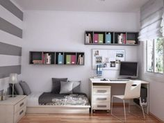 cozy room ideas , 30 Types That Will Give You Fab Bed room Ideas, room, jungs kleiner raum bett 30 Types That Will Give You Fab Bed room Ideas - room decor ideas - long laundry room design Modern Boys Rooms, Small Rooms, Modern Bedrooms, Teen Bedroom, Bedroom Decor, Bedroom Ideas, Bedroom Designs, Bedroom Furniture, Youth Rooms
