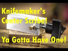 This video shows the making of a knife maker's center scribe. This tool is uses to scribe a line down the center of a knife blade to add the maker in grindin. The Forger, Knife Making Tools, Trench Knife, Blacksmith Tools, Hard Metal, Scribe, Knife Sharpening, Custom Knives, Survival Knife
