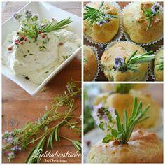 Liebhaberstücke: Herzhafte Kräutermuffins mit Dip Party Buffet, Kraut, Camembert Cheese, Eggs, Breakfast, Food, Parsley, Basil, Savory Cupcakes