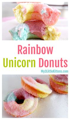 No kid can resist these rainbow unicorn donuts. Homemade made easy!