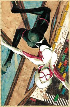 Spider-Gwen - Mikekimart - Paintings & Prints Entertainment Other Entertainment - ArtPal Marvel Spider Gwen, Spiderman Spider, Spider Girl, Amazing Spiderman, Spider Women, Marvel Art, Marvel Heroes, Marvel Avengers, Comics Spiderman