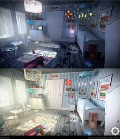 Night to day:interior stylized room