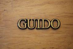 """Aluminium Schriftzug """"Guido"""""""