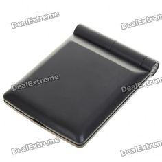 Pocket Make-up Mirror with LED Lighting (Black)