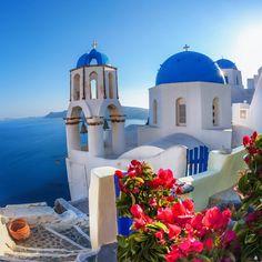 Island Of Santorini. Greece