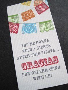 Favor tags- Cinco de Mayo Celebration