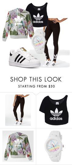 """Sport total look"" by carmenlrh on Polyvore featuring moda, adidas, adidas Originals, women's clothing, women's fashion, women, female, woman, misses y juniors"