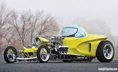"[1962 Ed Roth Mysterion Roadster Recreation] ... Crazy ingenuity;  now I know where they came up with the design for ""The Monster's"" hot rod"