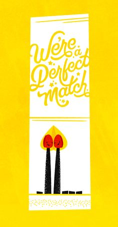 Cute Valentine's Day card We're a perfect match Pin by Alexandra Bond