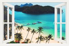 3D window illusion wall sticker, with a view of an enchanting tropical island.  Made of 100% Quality German vinyl. Removable sticker, super easy to apply!   We are the best in high quality wall decals. Cheap affordable wall sticker decals.  You can choose your own size from the description above. INCLUDED IN THIS ITEM:  Decals: 3D window magical island   Please watch our instruction video for best results in the link below:  https://www.youtube.com/watch?v=SlhHIAvMd5g  (copy & paste the link…