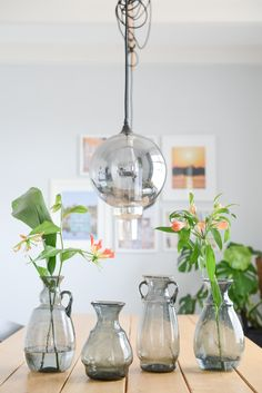 Olla vaas van Binti Home - gerecycled glas Old Vases, Nature Paintings, Recycled Glass, Interior Inspiration, Flower Pots, Planting Flowers, Glass Vase, Ceiling Lights, Blown Glass