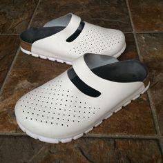 Birkenstock ALPRO Women's WhiteBlue Slide-on Shoes / Sandals Size L 7 M 5 245 #BirkenstockALPRO #Slides #Casual
