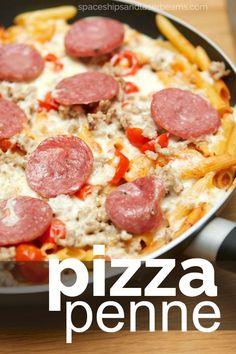 One Pan Penne Pizza #OnePanPronto AD