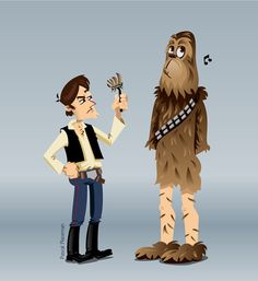 Han and Chewie by pascal placeman, via Behance