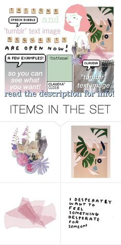 """""""request a tattone, speech bubble, or """"tumblr"""" text image"""" by kristen-gregory-sexy-sports-babe ❤ liked on Polyvore featuring art"""