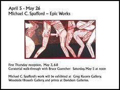 Michael C Spafford at Greg Kucera First Thursdays, Davidson Galleries, Art Walk, Seattle, Gallery, Prints, Printed, Art Print