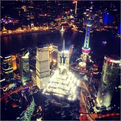 Shanghai by night. 101 floors up.